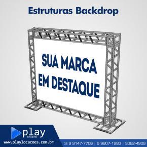 LOCAÇÃO DE BACKDROP (BOX TRUSS) / ESTRUTURA METÁLICA PARA BANNER  EM MONTES CLAROS